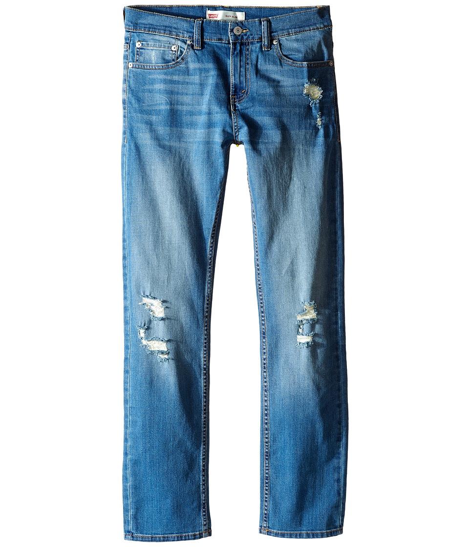 Levi's(r) Kids - 511 Slim Destruction Jeans (Big Kids) (Washed Ashore) Boy's Jeans