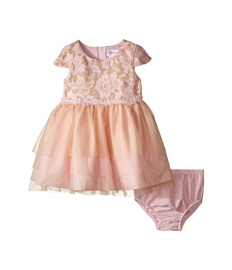 Us Angels - Cap Sleeve Ballerina Dress (Infant) (Pink/Gold) Girl's Dress
