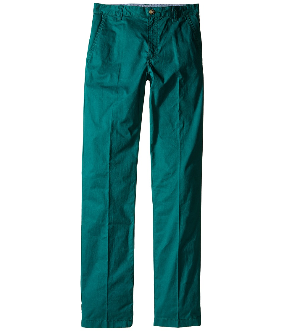 Lacoste Kids - Cotton Gabardine Flat Front Chino (Little Kids/Big Kids) (Bottle Green) Boy's Casual Pants