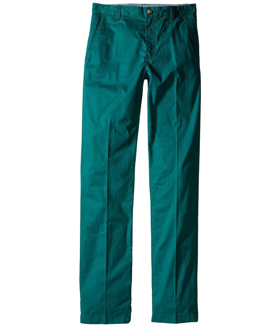 Lacoste Kids - Cotton Gabardine Flat Front Chino (Little Kids/Big Kids) (Bottle Green) Boy's Casual Pants