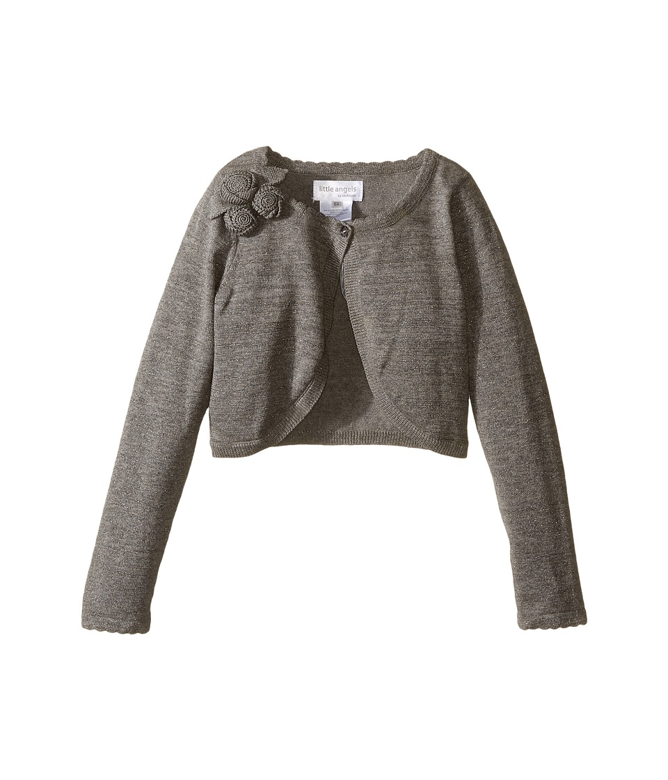 Us Angels - Bolero Sweater w/ Flowers (Silver) Girl's Sweater