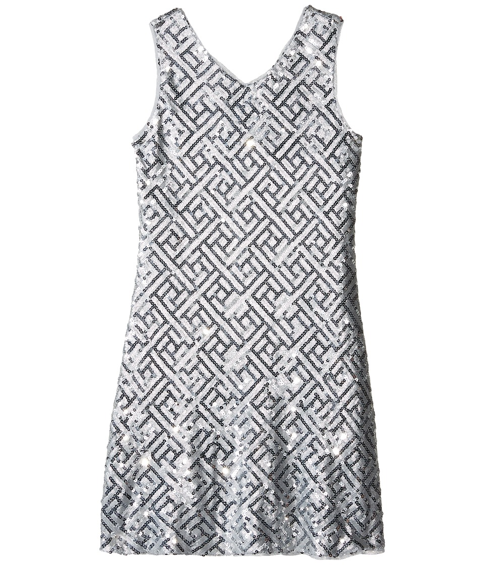 Us Angels - Sequin Sleeveless Sheath Dress (Big Kids) (Silver) Girl's Dress