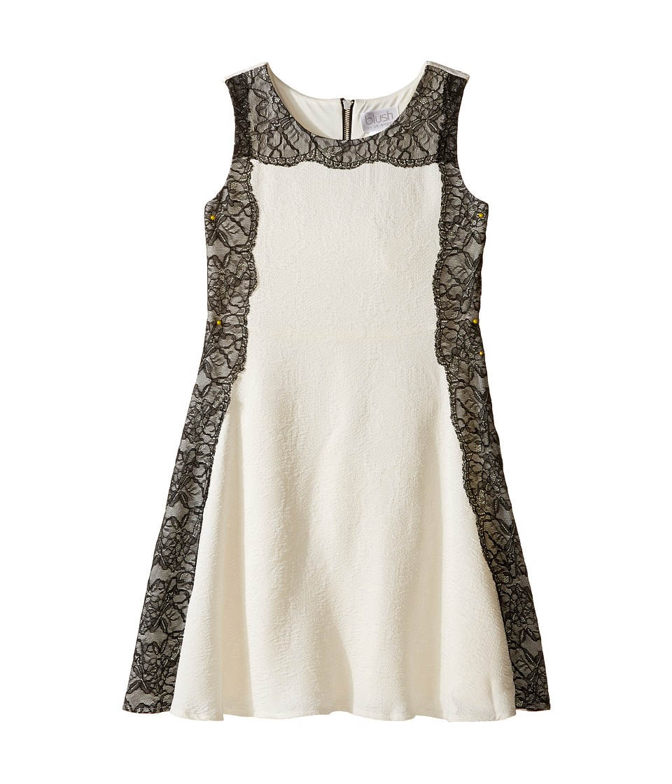 Us Angels - Sleeveless A-line Dress w/ Lace Trim (Big Kids) (Cr me) Girl's Dress