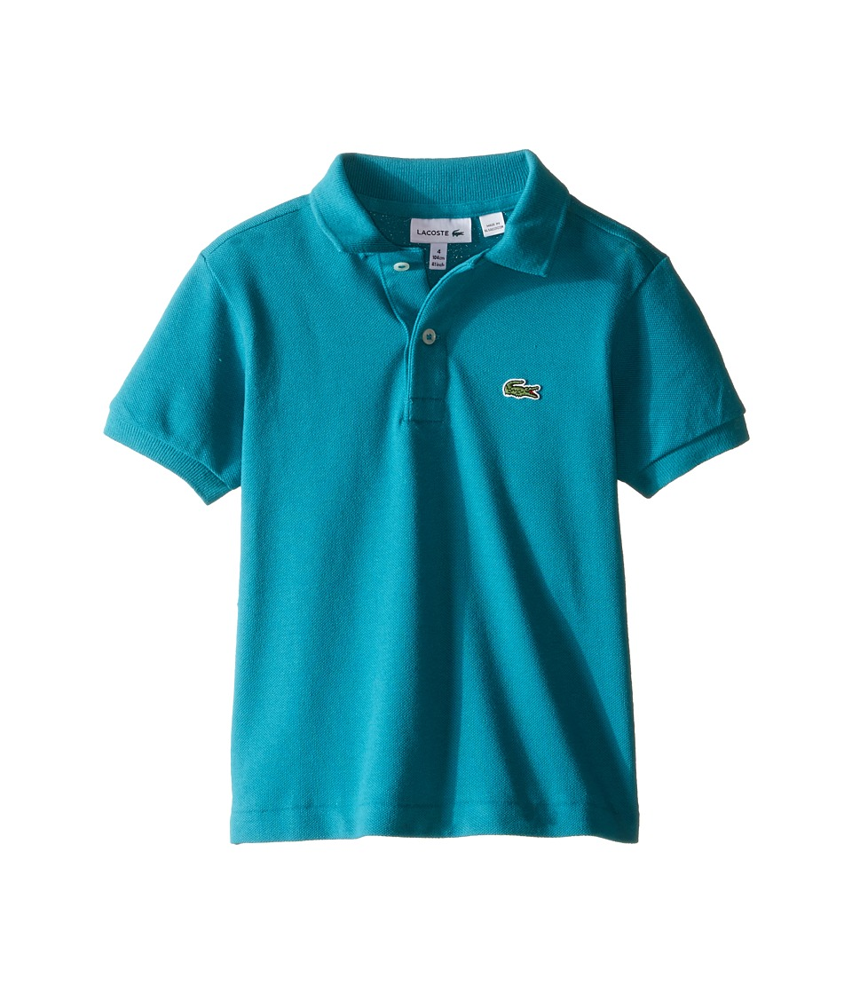 Lacoste Kids - Short Sleeve Classic Pique Polo (Infant/Toddler/Little Kids/Big Kids) (Emerald 10H) Boy's Short Sleeve Pullover