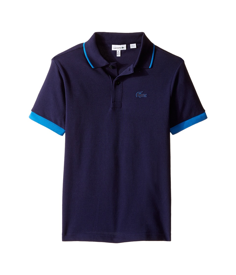Lacoste Kids - Short Sleeve Rubber Croc Polo (Infant/Toddler/Little Kids/Big Kids) (Aquatic/West Indies) Boy's Short Sleeve Pullover
