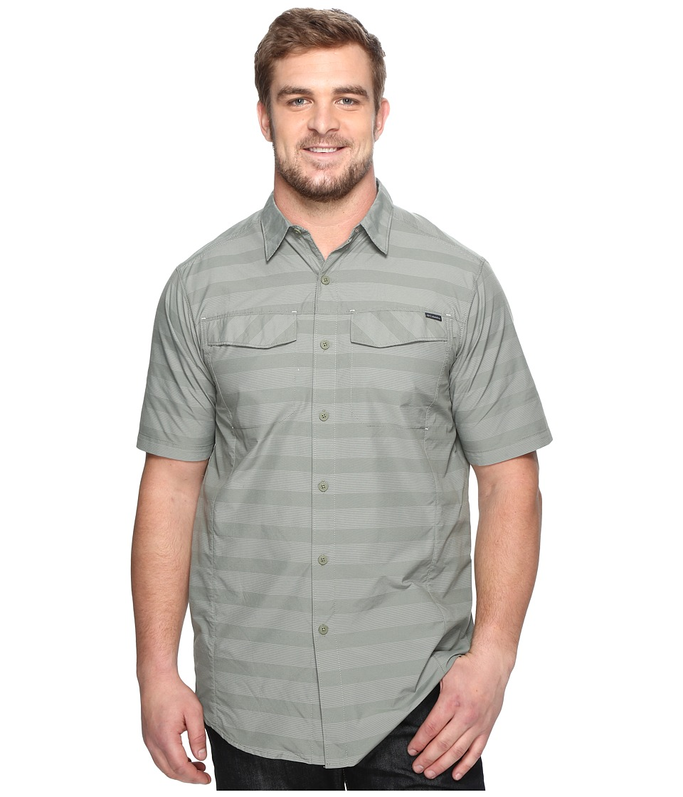 Columbia - Silver Ridgetm Multi Plaid S/S Shirt - Tall (Cypress Stripe) Men's Short Sleeve Button Up
