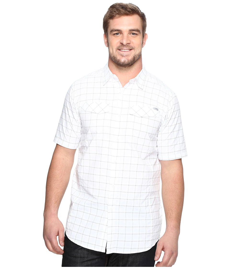 Columbia - Silver Ridgetm Multi Plaid S/S Shirt - Tall (White Dobby) Men's Short Sleeve Button Up