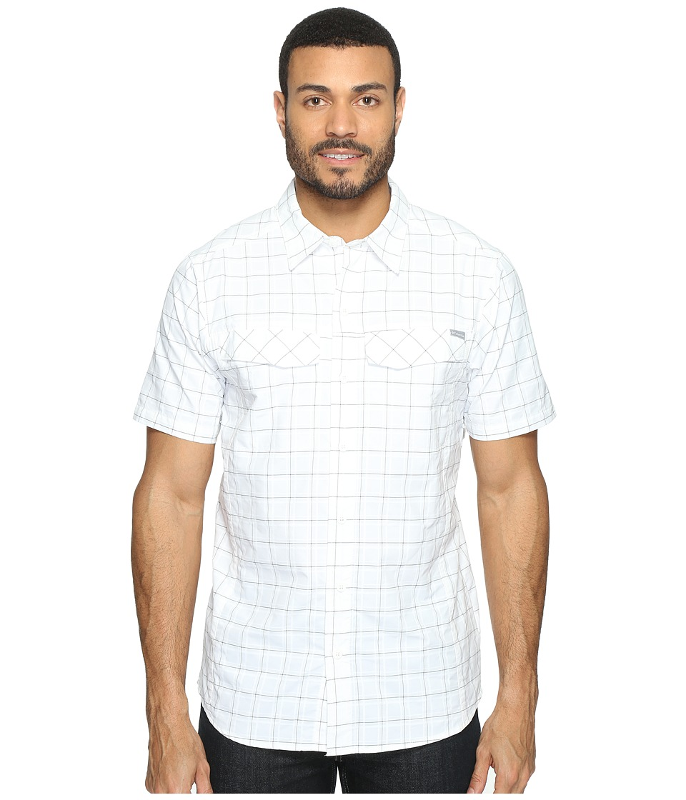 Columbia - Silver Ridgetm Multi Plaid S/S Shirt (White Dobby) Men's Short Sleeve Button Up
