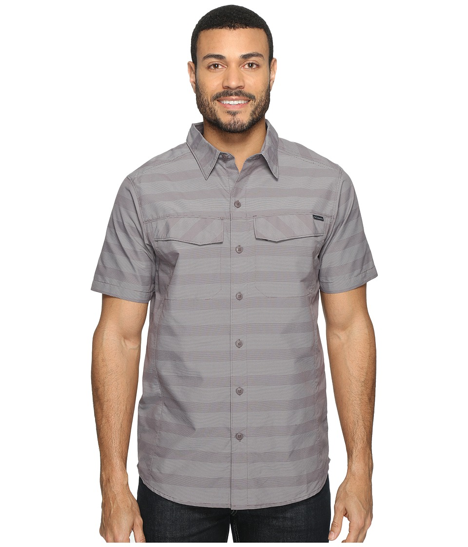 Columbia - Silver Ridgetm Multi Plaid S/S Shirt (Purple Sage Stripe) Men's Short Sleeve Button Up