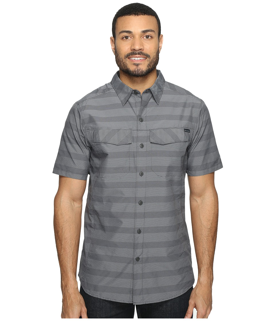 Columbia - Silver Ridgetm Multi Plaid S/S Shirt (Shark Stripe) Men's Short Sleeve Button Up