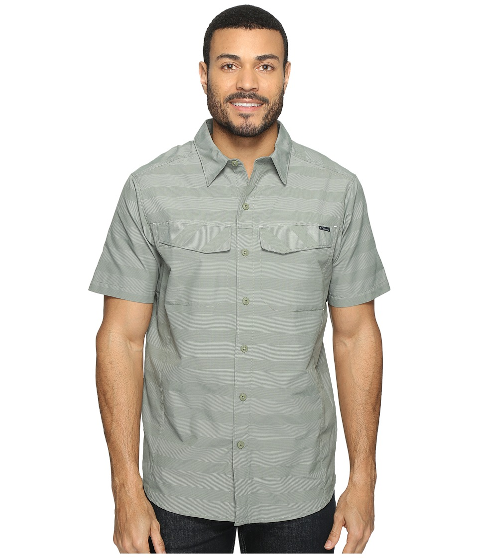 Columbia - Silver Ridgetm Multi Plaid S/S Shirt (Cypress Stripe) Men's Short Sleeve Button Up