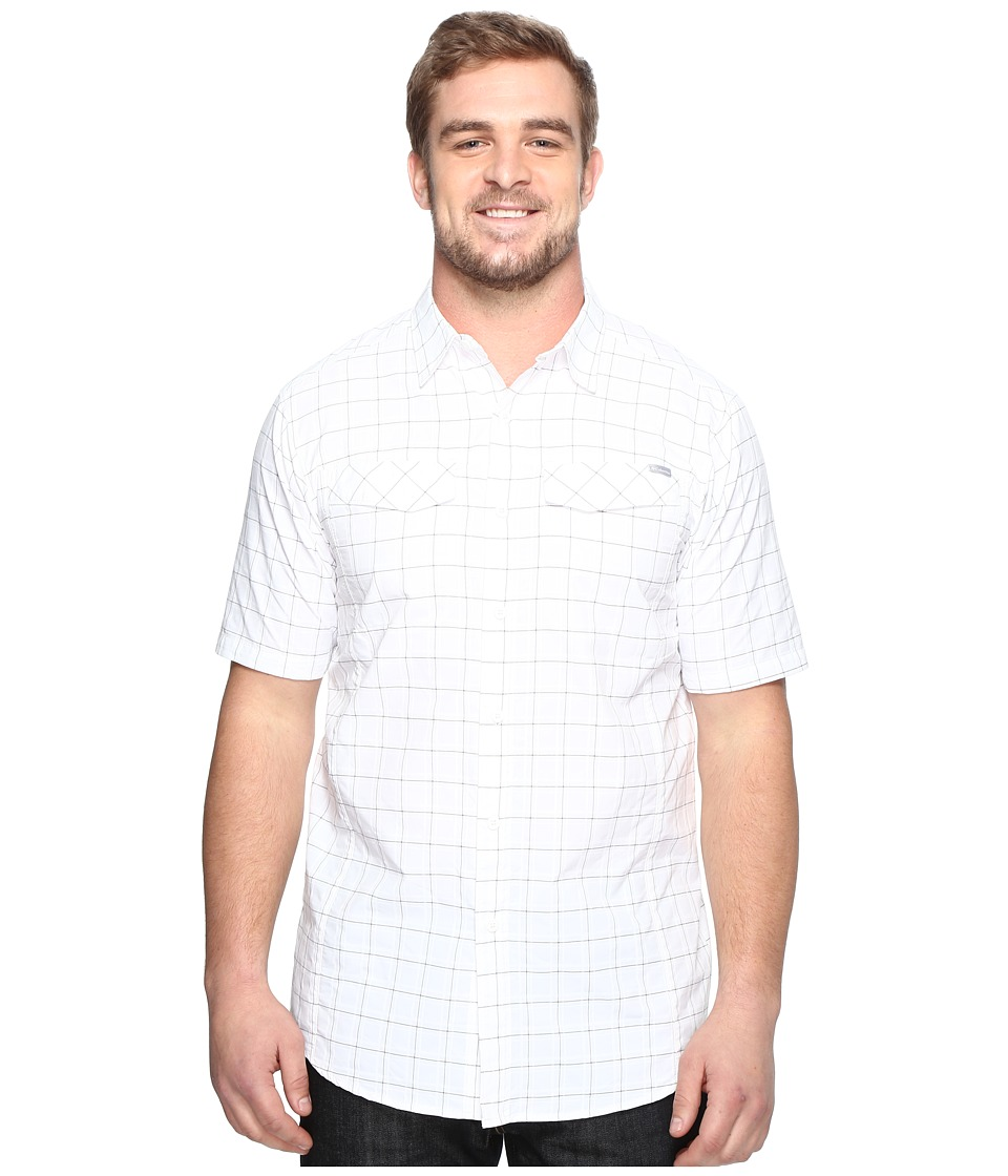 Columbia - Silver Ridgetm Multi Plaid S/S Shirt - Big (White Dobby) Men's Short Sleeve Button Up