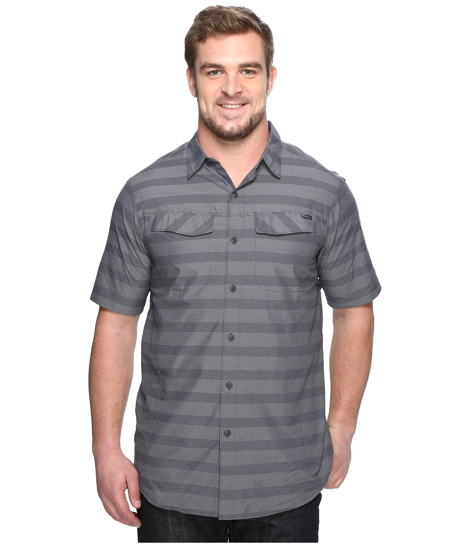 Columbia - Silver Ridgetm Multi Plaid S/S Shirt - Big (Shark Stripe) Men's Short Sleeve Button Up