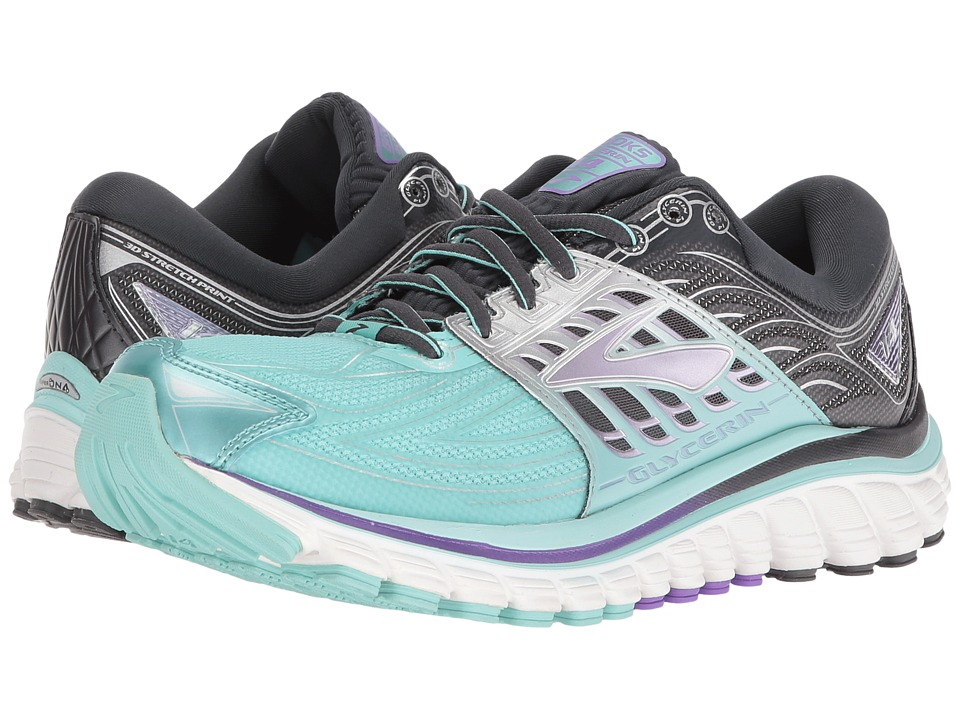 Brooks - Glycerin 14 (Aruba Blue/Anthracite/Purple Love) Women's Running Shoes