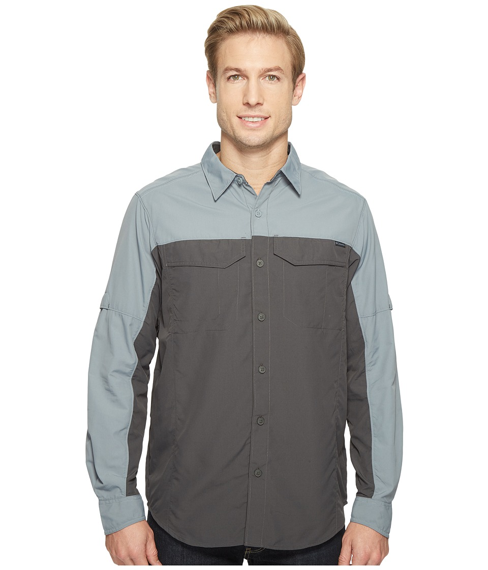 Columbia - Silver Ridge Blocked Long Sleeve Shirt (Shark/Grey Ash) Men's Long Sleeve Button Up