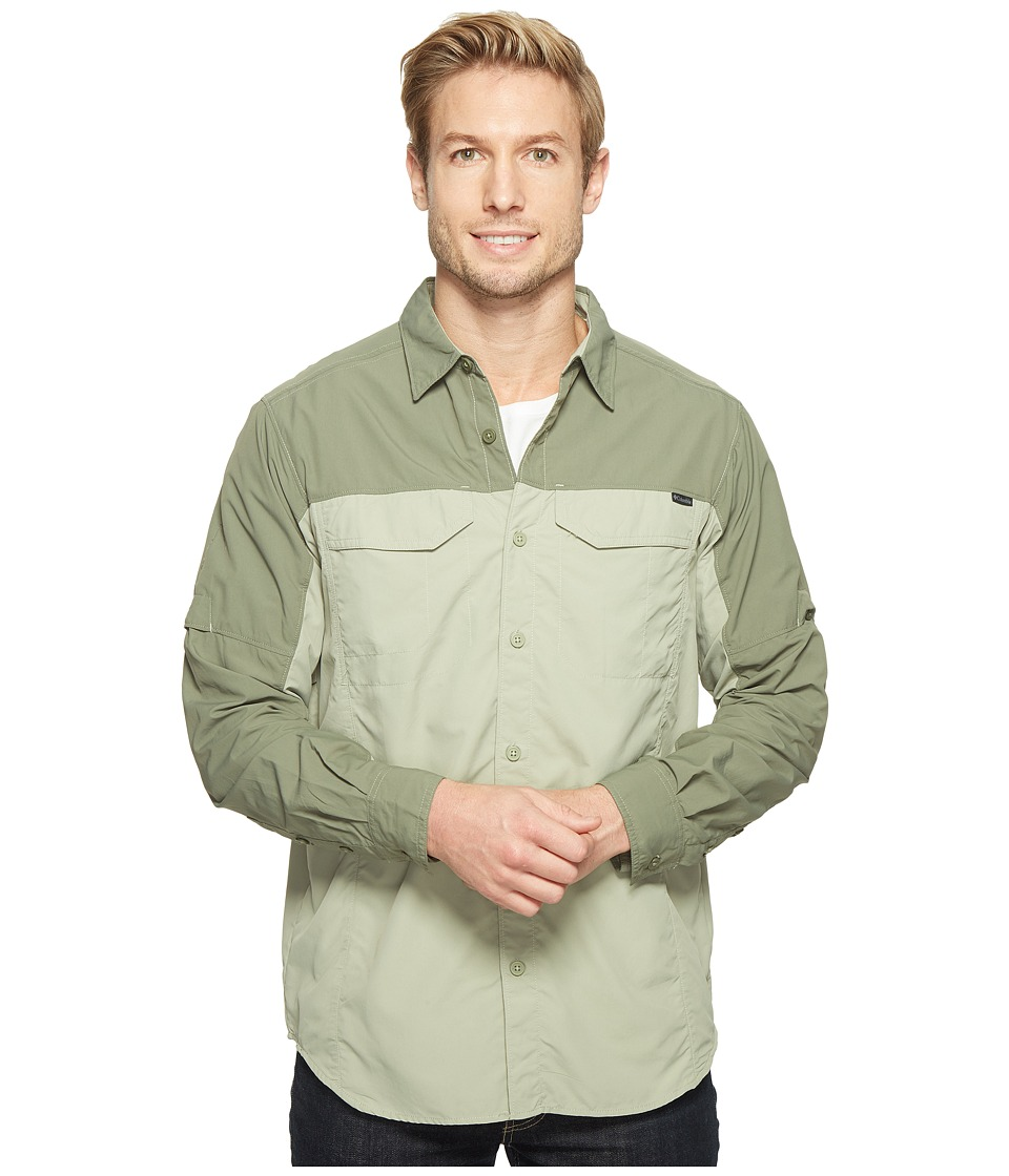 Columbia - Silver Ridge Blocked Long Sleeve Shirt (Safari/Cypress) Men's Long Sleeve Button Up