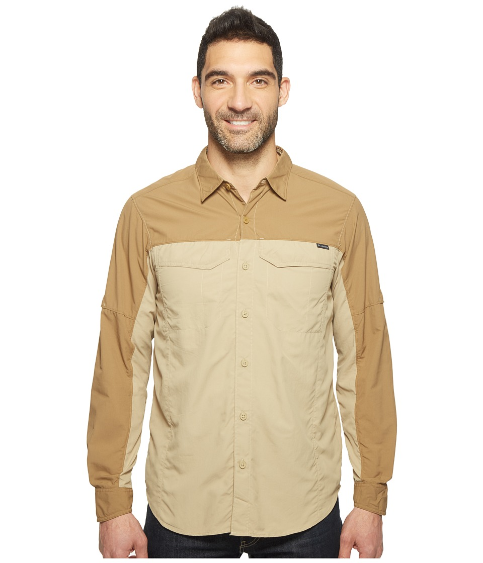 Columbia - Silver Ridge Blocked Long Sleeve Shirt (British Tan/Delta) Men's Long Sleeve Button Up