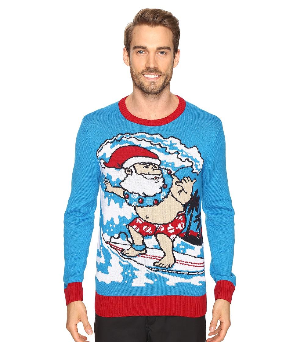TravisMathew Surfing Santa Sweater (Blue) Men