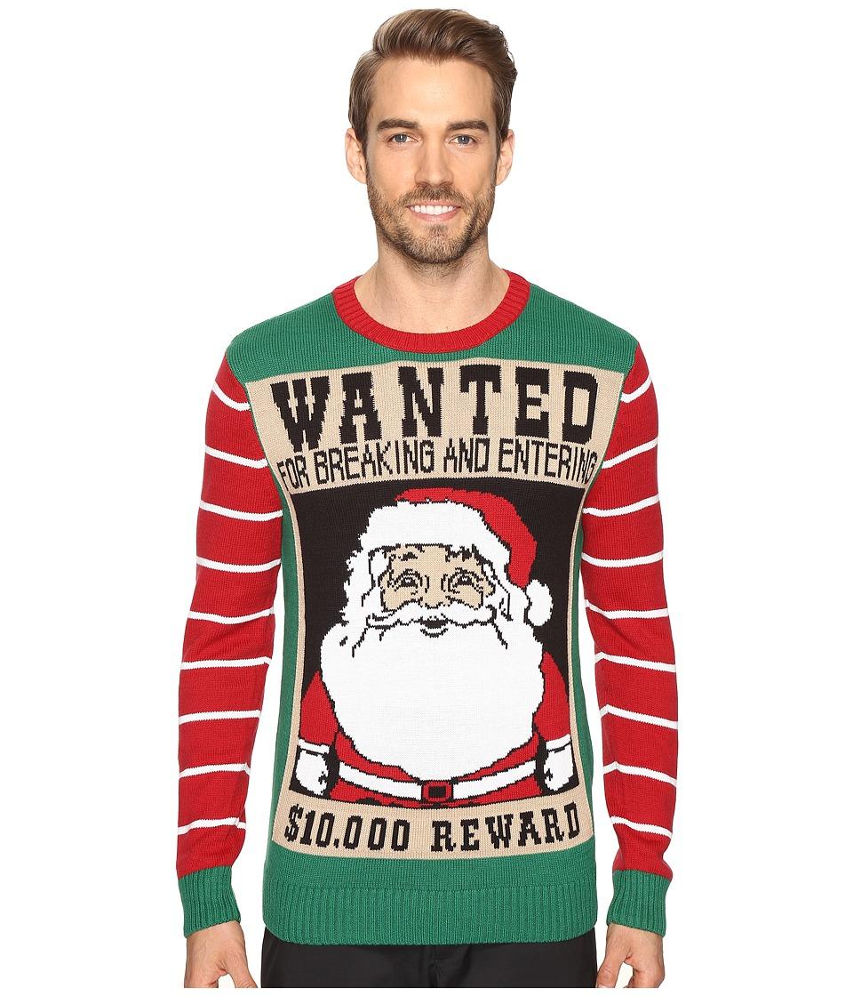 TravisMathew - Wanted Santa Sweater (Black) Men's Sweater
