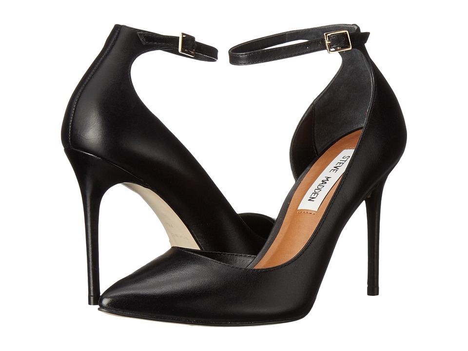 Steve Madden - Tifannie (Black Leather) Women's Shoes