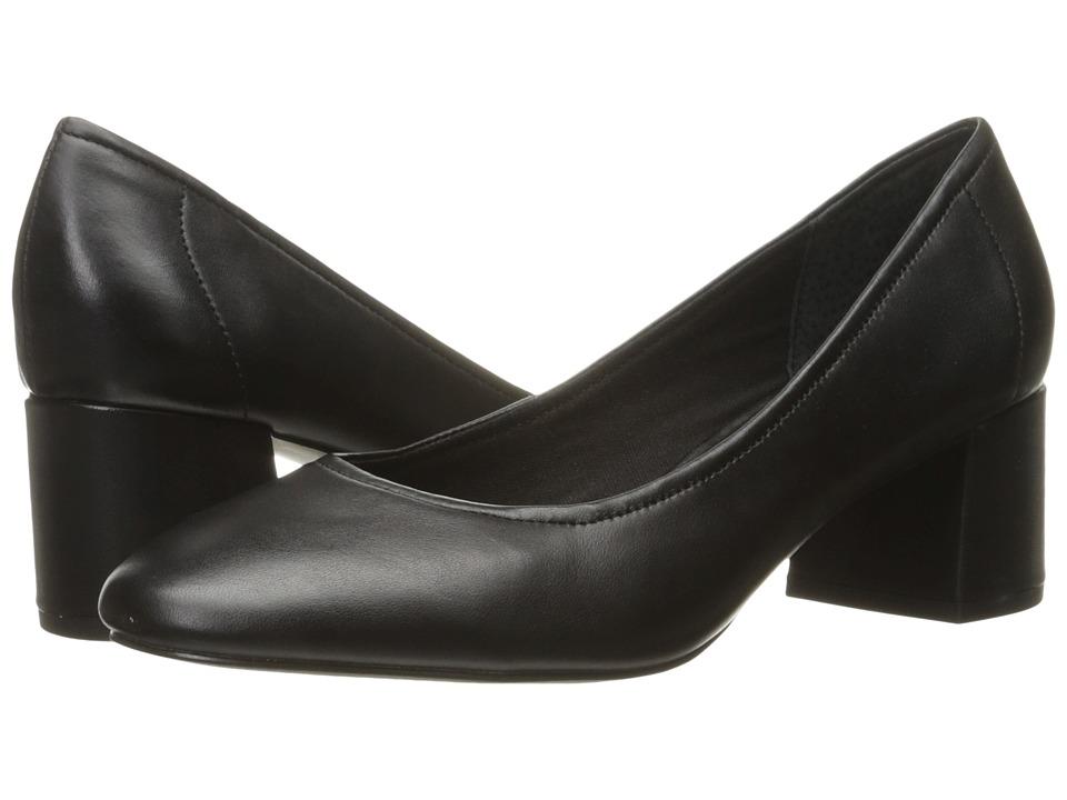 Steve Madden - Tomorrow (Black Leather) High Heels