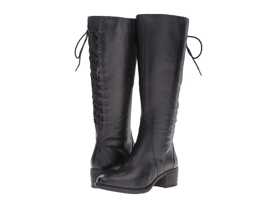 Steve Madden - Laceup Wide (Black Leather) Women's Boots