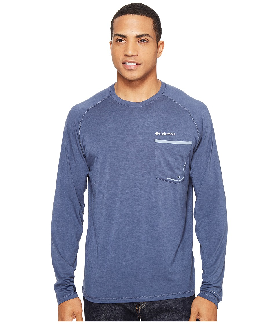 Columbia - Sol Resist Long Sleeve Shirt (Zinc/Dark Mirage) Men's Long Sleeve Pullover