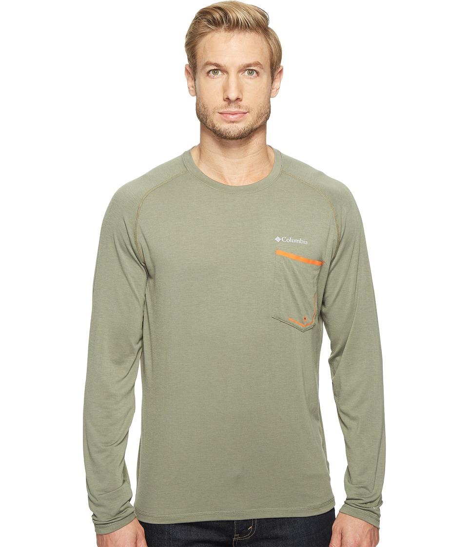 Columbia - Sol Resist Long Sleeve Shirt (Cypress/Valencia) Men's Long Sleeve Pullover