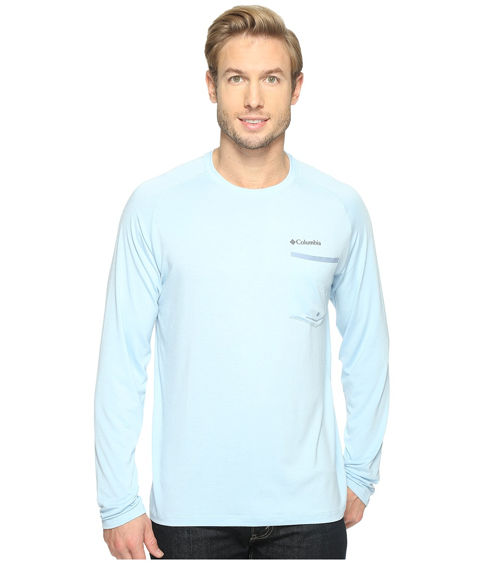 Columbia - Sol Resist Long Sleeve Shirt (Oxygen/Steel) Men's Long Sleeve Pullover