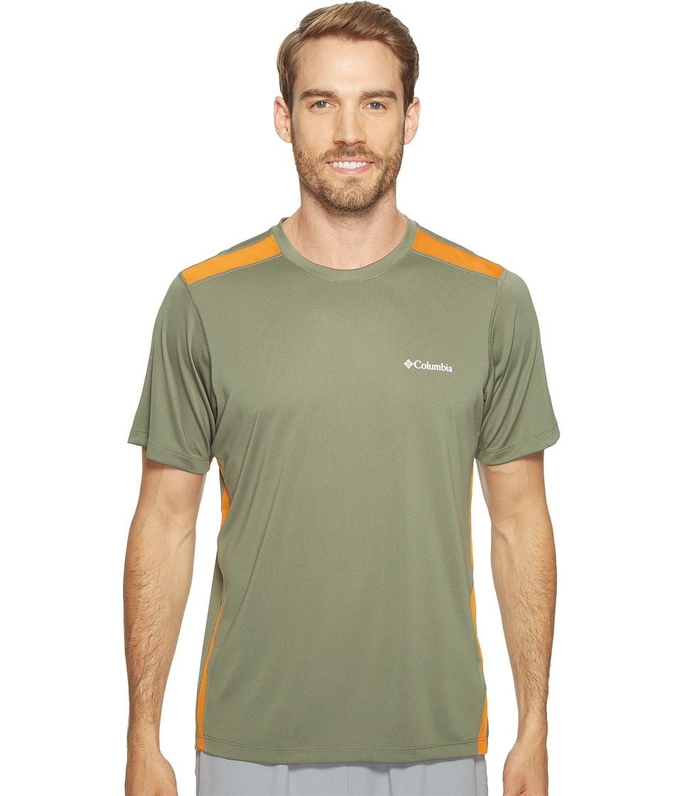 Columbia - Ridge Dash Short Sleeve Shirt (Cypress/Valencia) Men's T Shirt