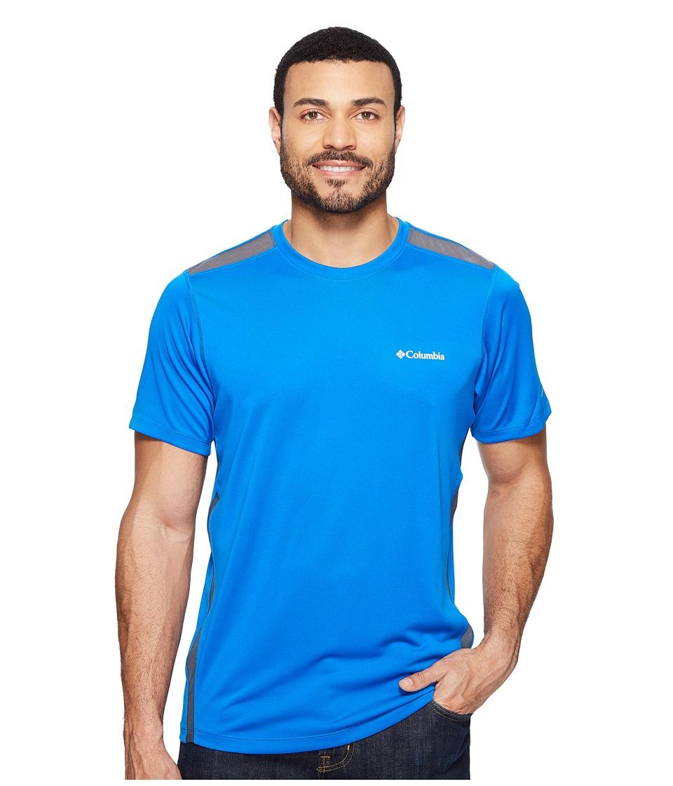 Columbia - Ridge Dash Short Sleeve Shirt (Super Blue/Graphite) Men's T Shirt