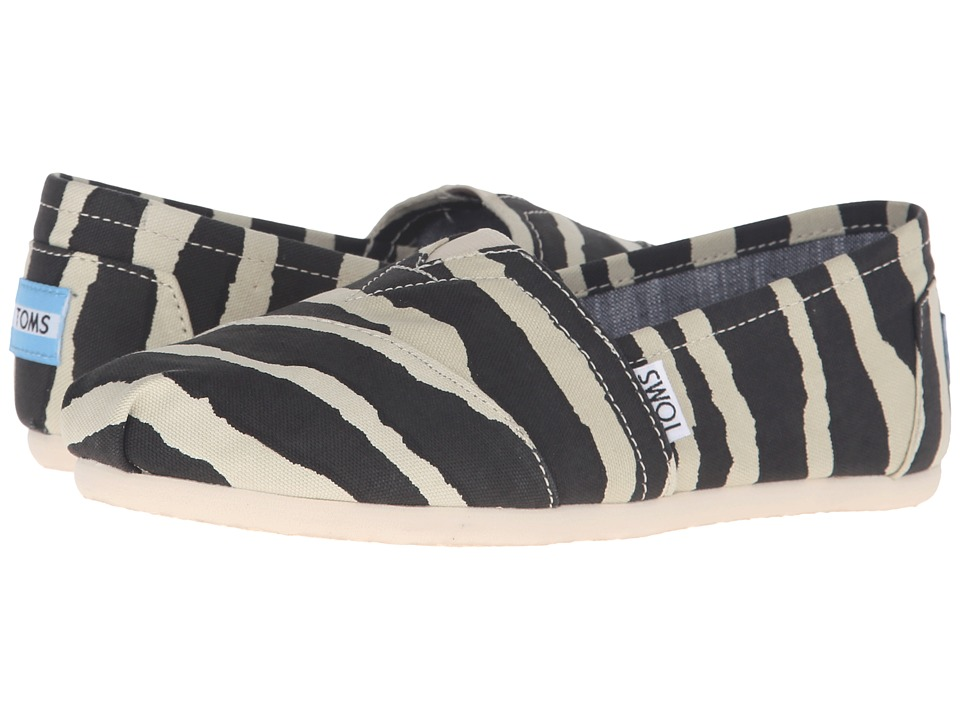 TOMS - Zebra Hemp Classic (Zebra Hemp) Women's Slip on Shoes