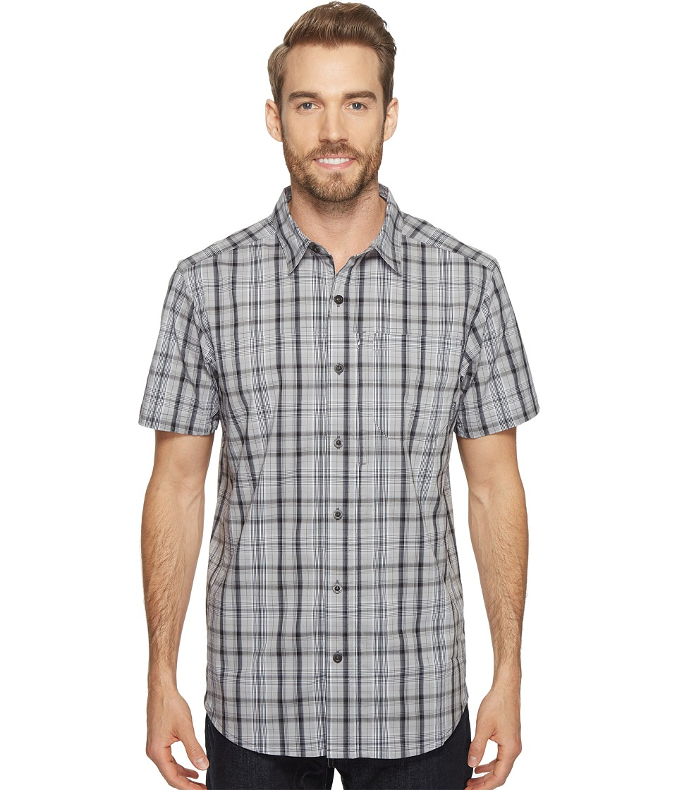 Columbia - Global Adventuretm IV YD Short Sleeve Shirt (Shark Plaid) Men's Short Sleeve Button Up