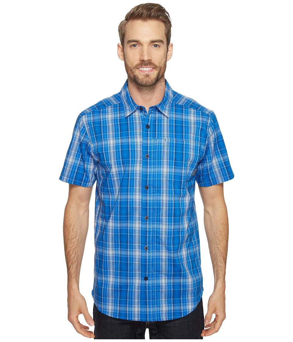 Columbia - Global Adventuretm IV YD Short Sleeve Shirt (Super Blue Plaid) Men's Short Sleeve Button Up