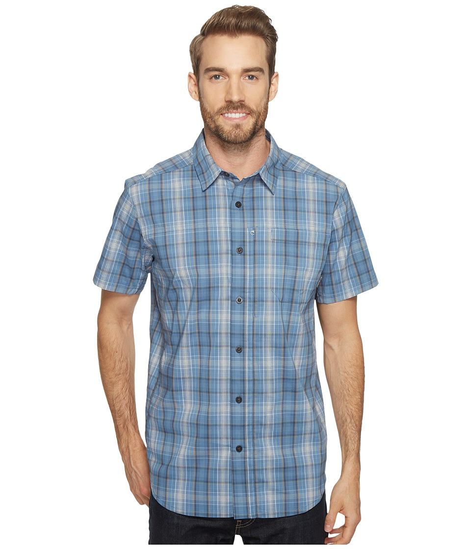 Columbia - Global Adventuretm IV YD Short Sleeve Shirt (Steel Plaid) Men's Short Sleeve Button Up