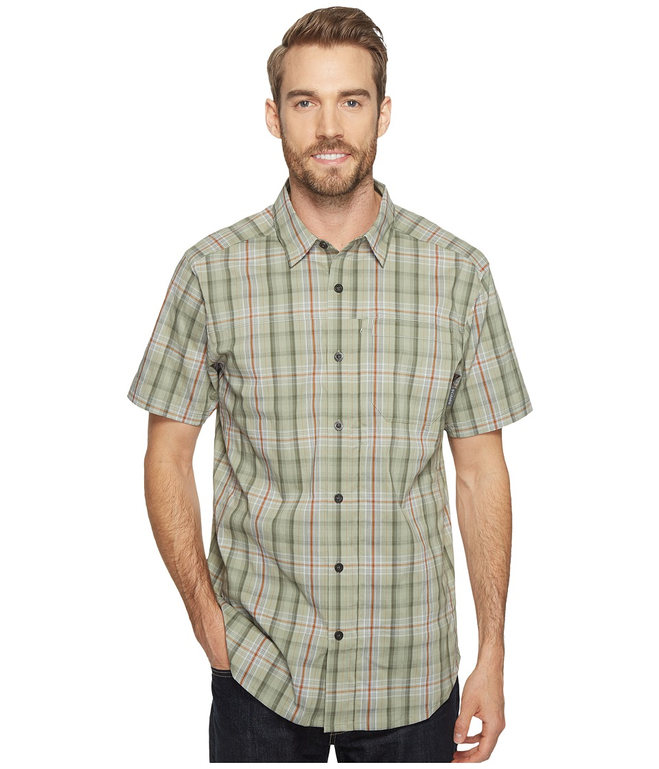Columbia - Global Adventuretm IV YD Short Sleeve Shirt (Safari Plaid) Men's Short Sleeve Button Up