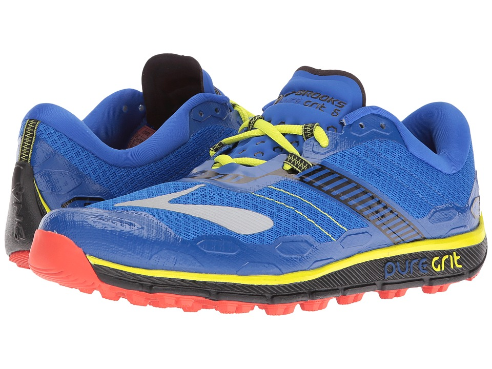 Brooks - PureGrit 5 (Electric Brooks Blue/Black/Lime Punch) Men's Running Shoes