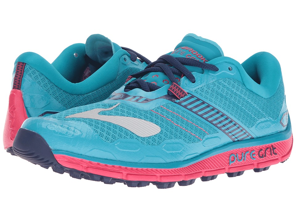 Brooks - PureGrit 5 (Peacock Blue/Virtual Pink/Patriot Blue) Women's Running Shoes