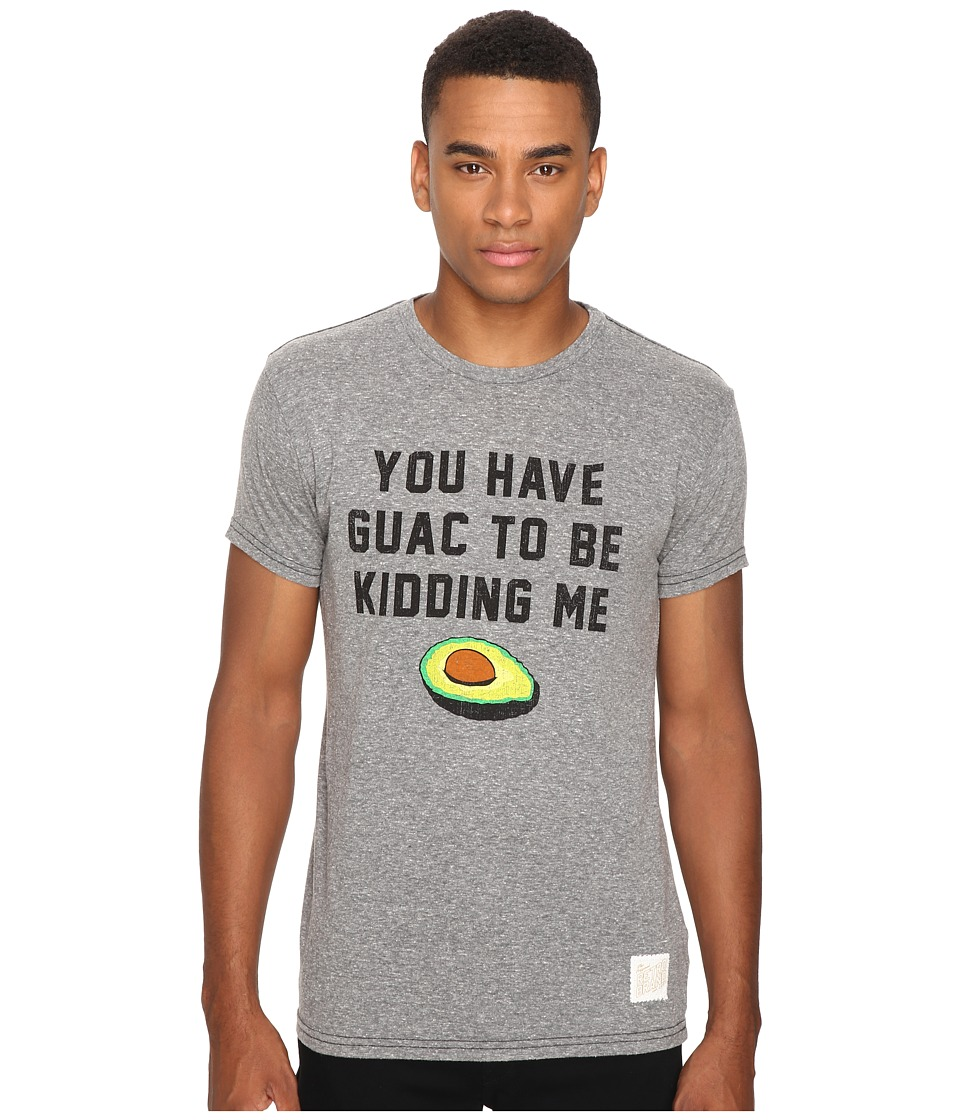 The Original Retro Brand - Guac To Be Kidding Short Sleeve Tri-Blend Tee (Streaky Grey) Men's T Shirt