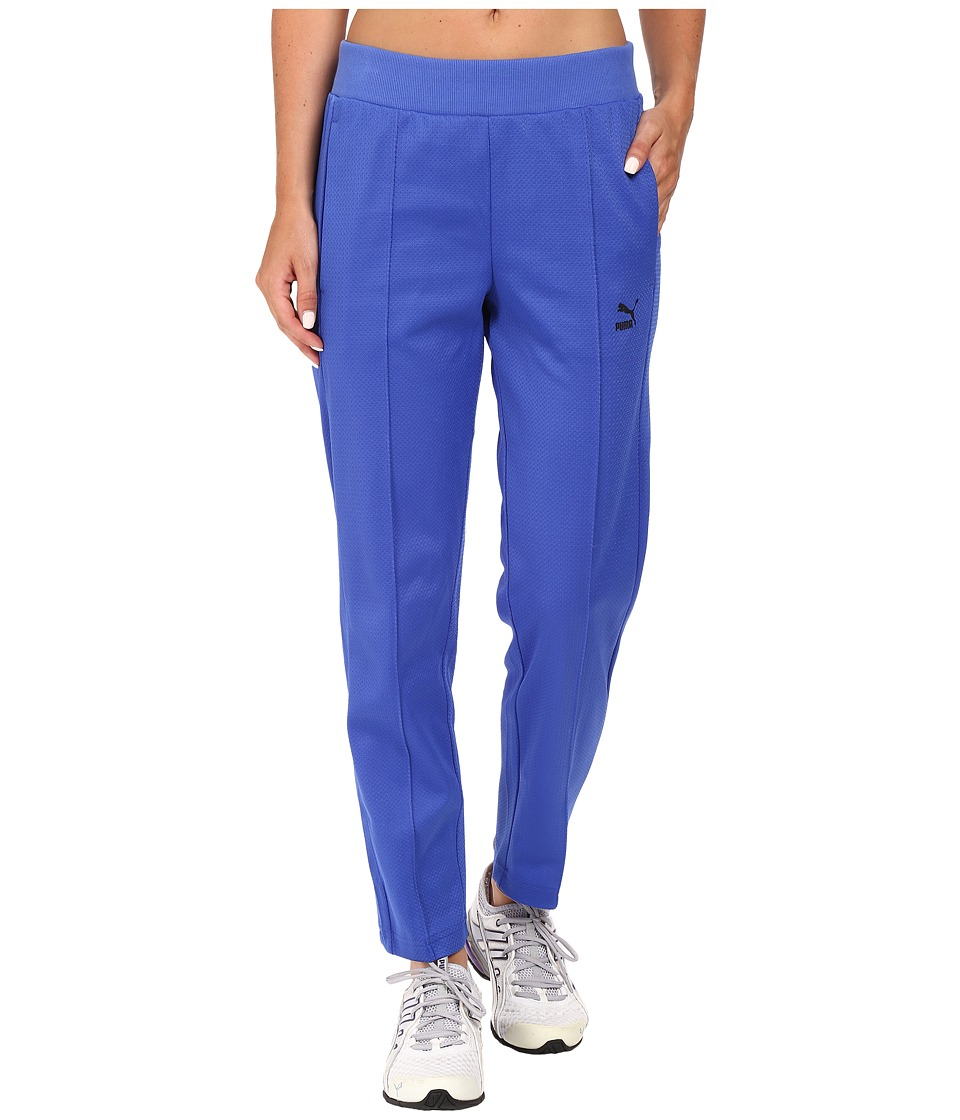 PUMA - Mesh 7/8 Track Pants (Dazzling Blue) Women's Casual Pants