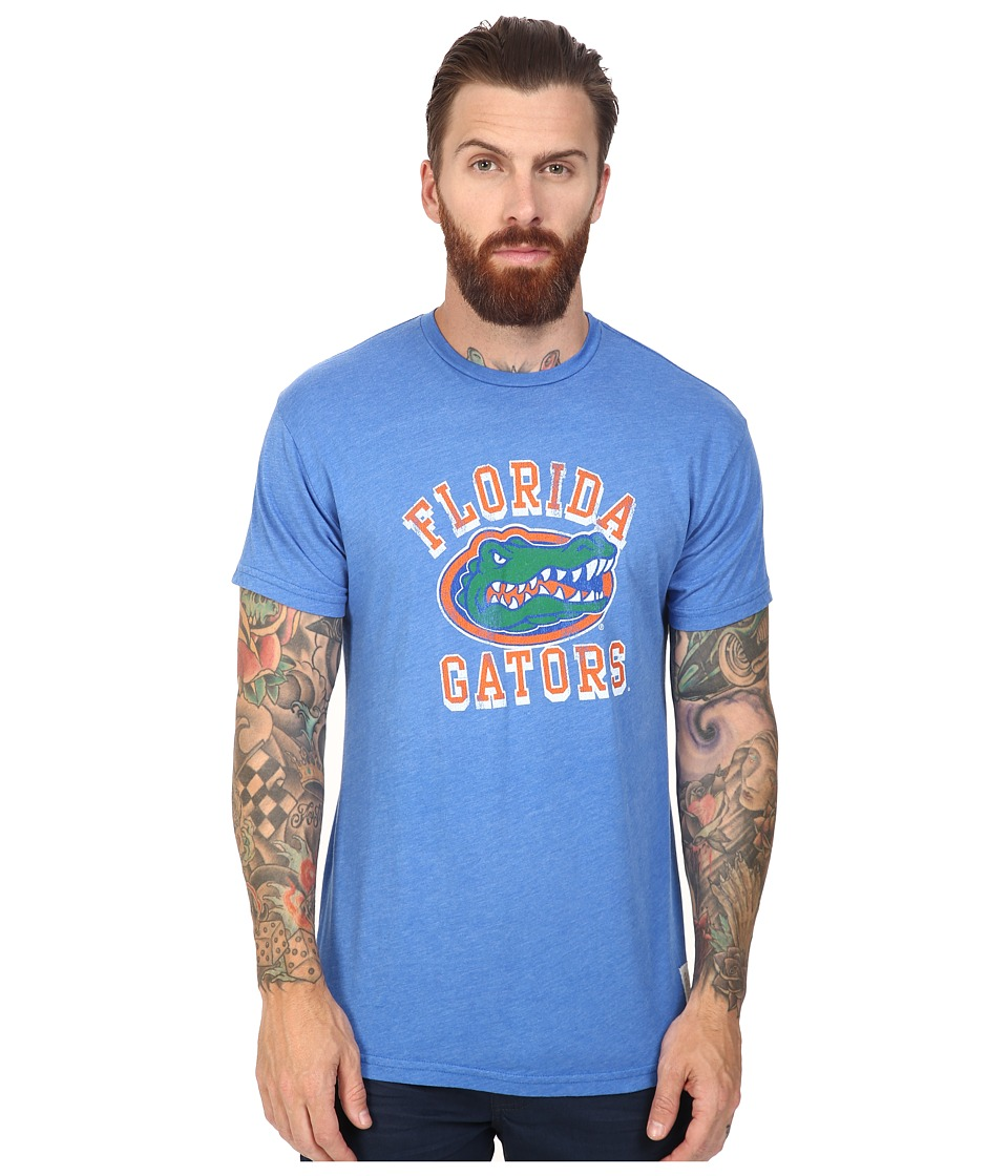 The Original Retro Brand - Florida Gators Short Sleeve Heathered Tee (Heather Royal) Men's T Shirt