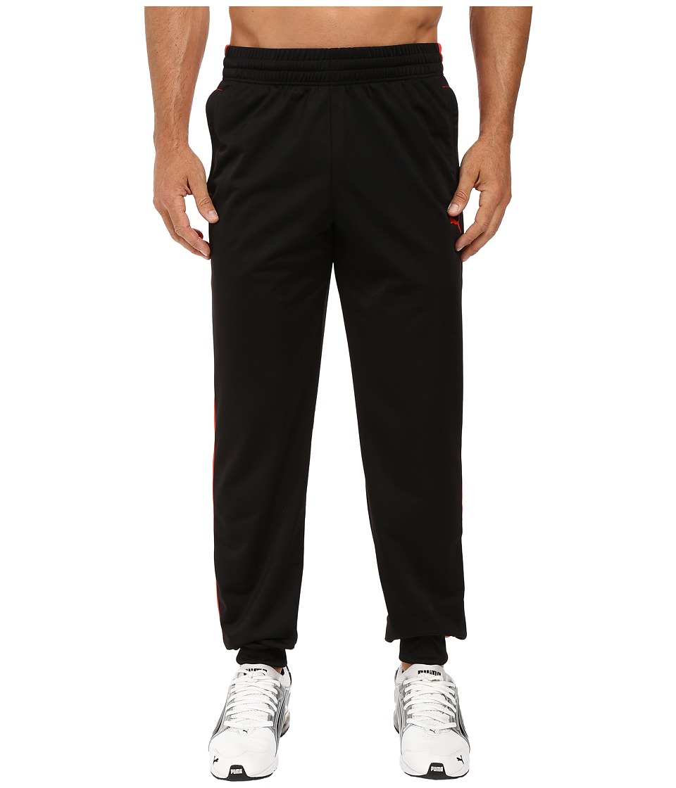 PUMA - Contrast Pant Cuffed (Black/Puma Red) Men's Casual Pants