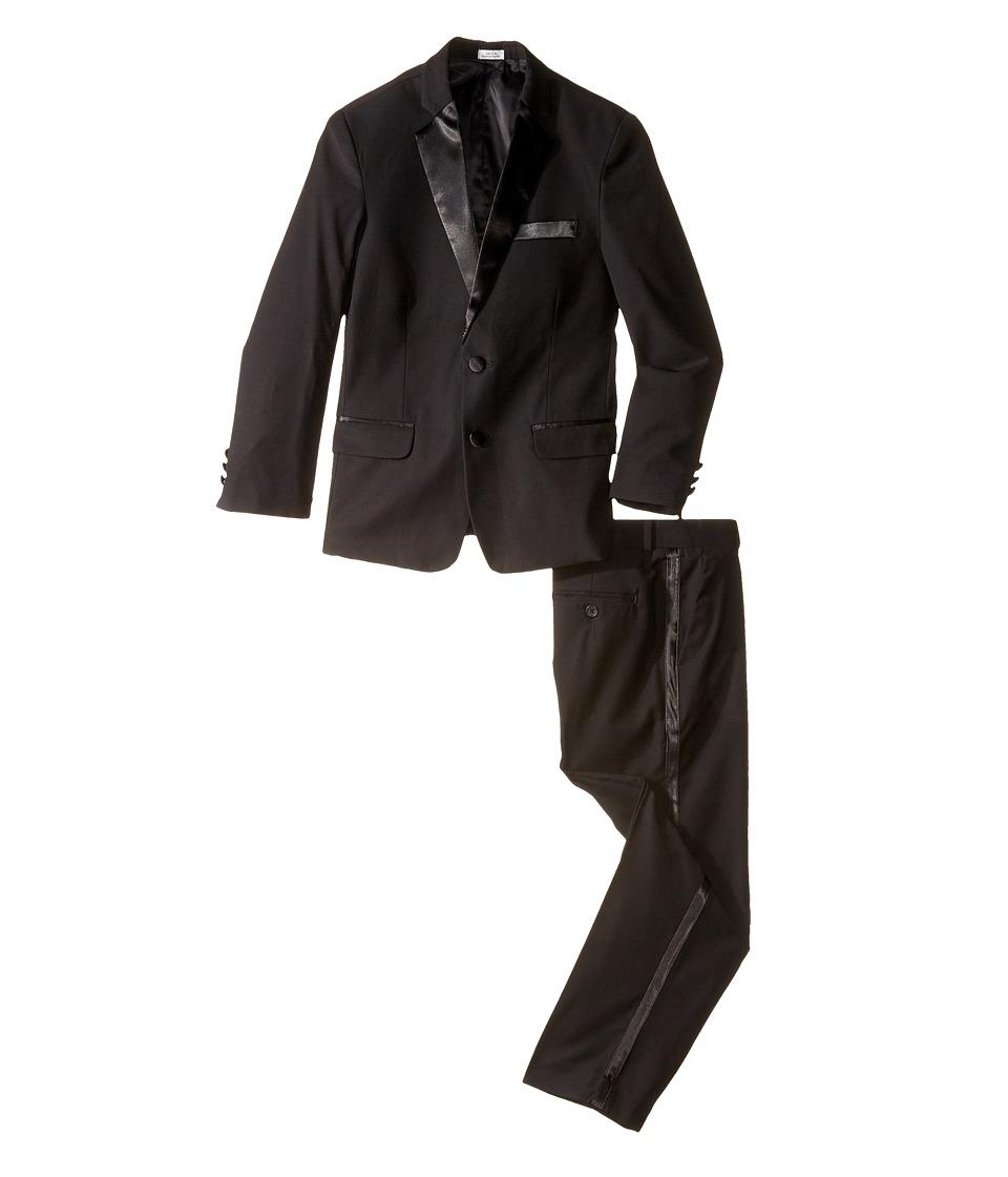 Calvin Klein Kids - Tuxedo Suit - Husky (Big Kids) (Black) Boy's Suits Sets
