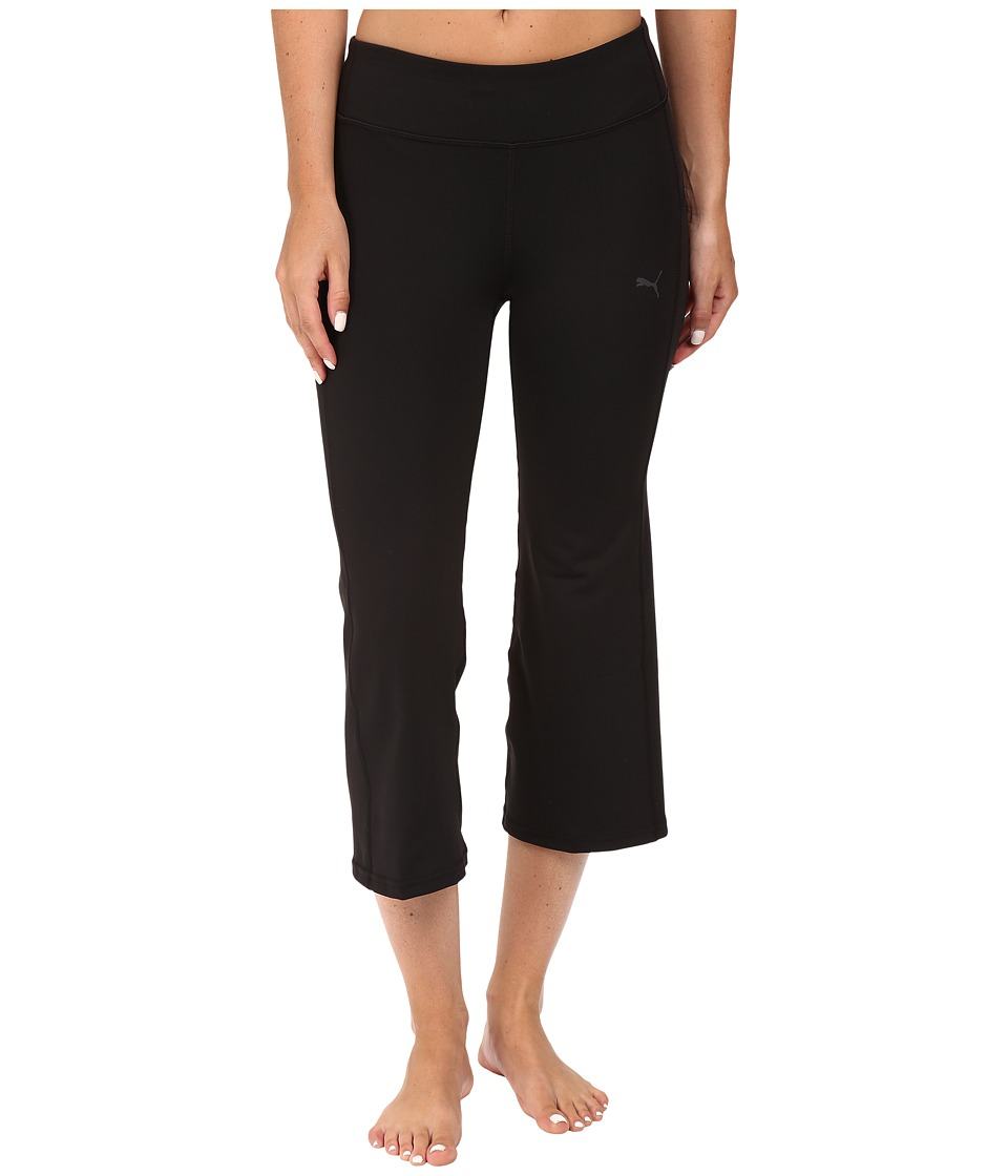 PUMA - WT Essential 3/4 Straight Leg Pants (Black) Women's Casual Pants