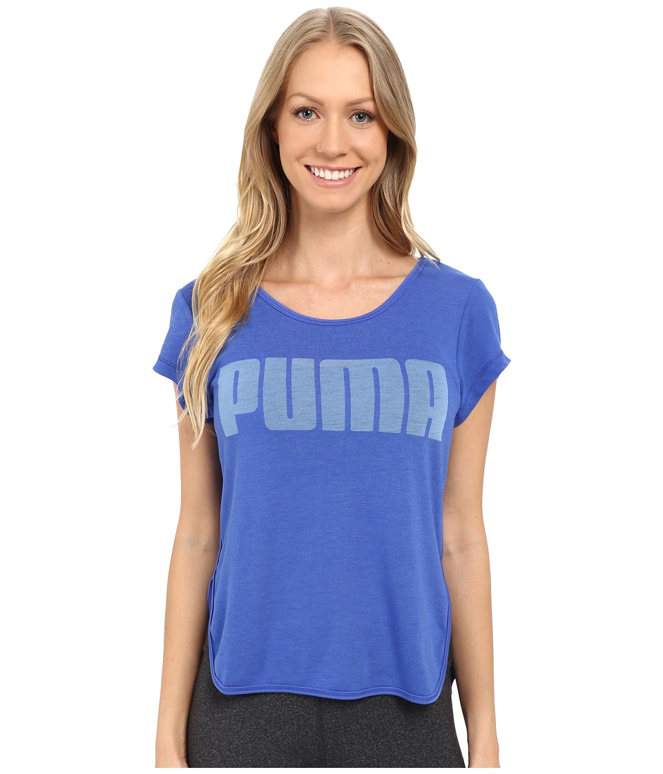PUMA - Layer Tee (Dazzling Blue) Women's T Shirt
