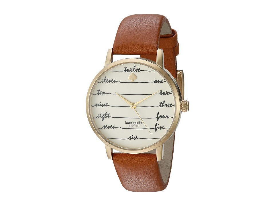 Kate Spade New York - Chalkboard Metro - KSW1237 (Brown) Watches