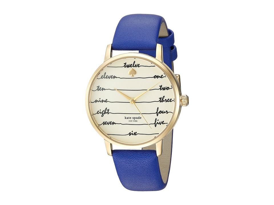 Kate Spade New York - Chalkboard Metro - KSW1238 (Blue) Watches