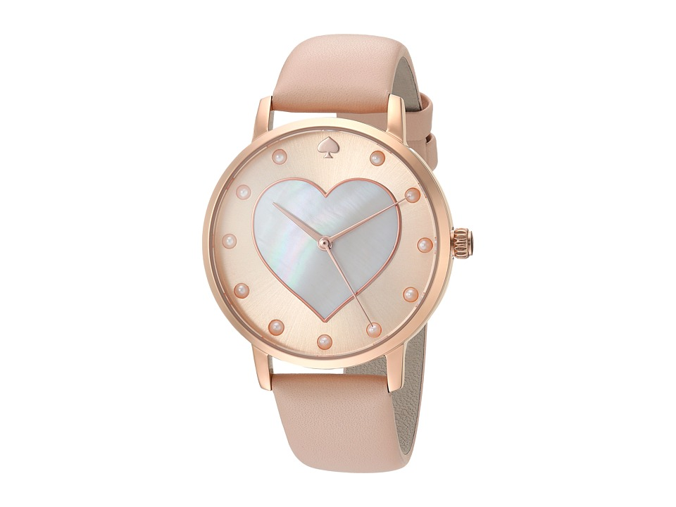 Kate Spade New York - Vachetta Heart Metro - KSW1254 (Beige) Watches
