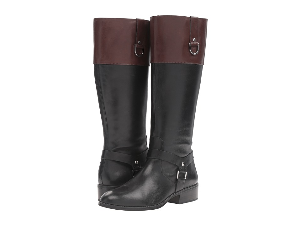 LAUREN Ralph Lauren Mesa (Black/Dark Brown Burnished Calf) Women
