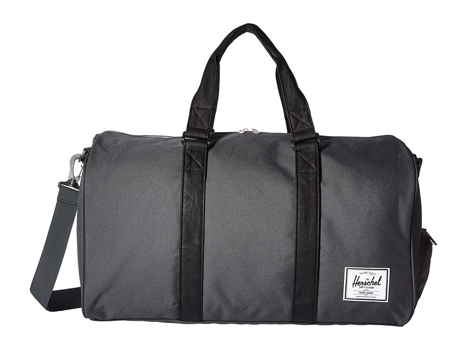 Herschel Supply Co. - Novel (Dark Shadow/Black Synthetic Leather) Duffel Bags